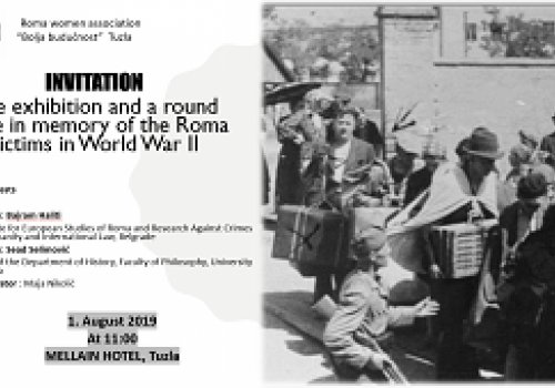 The exhibition and a round table in memory of the Roma victims in World War…